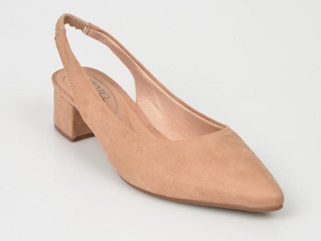 Modă bine cunoscute calitate Pantofi bej, 4182105, din piele ecologica