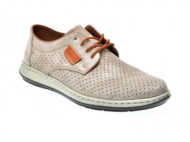 nou stil cel mai bun preturi de lichidare Pantofi RIEKER gri, 17325, din piele intoarsa