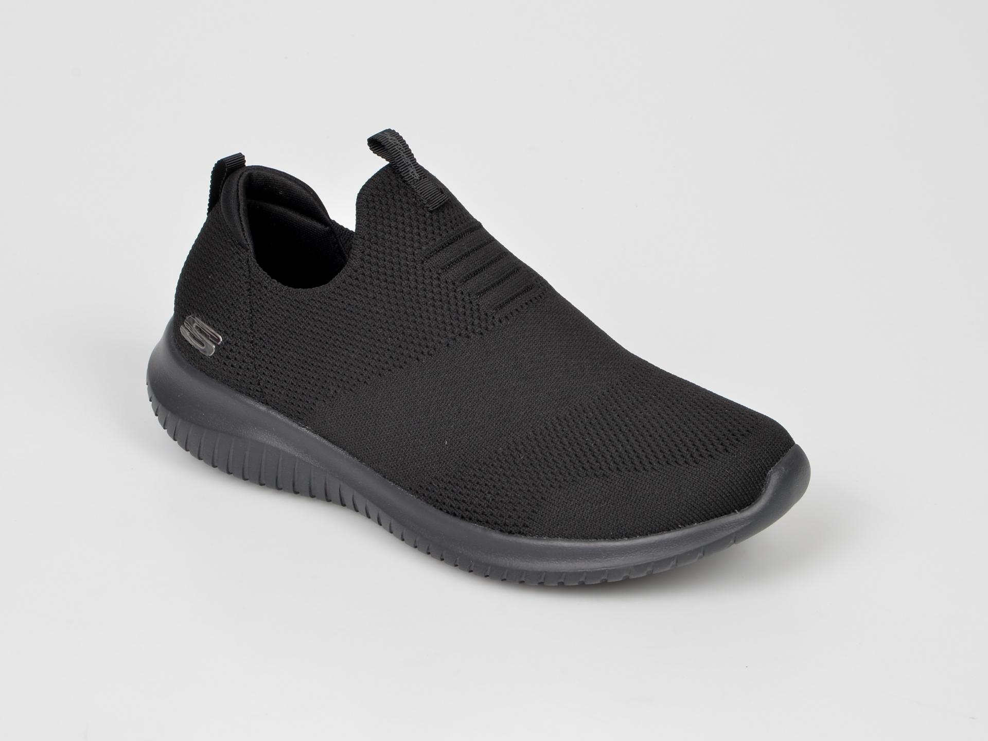 Pantofi Sport Skechers Negri, 12837, Din Piele Ecologica