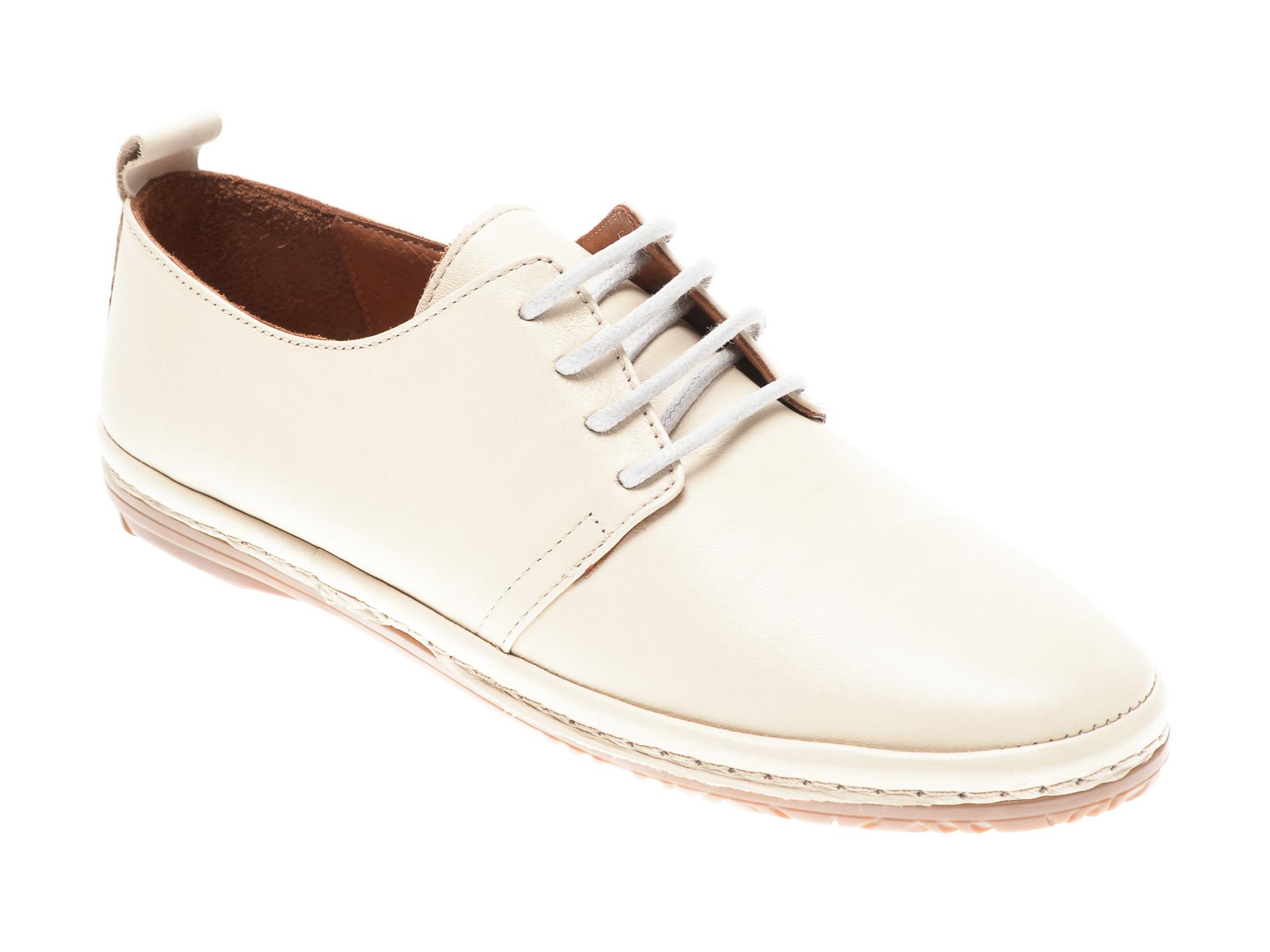 Pantofi Flavia Passini Bej, 951110, Din Piele Naturala