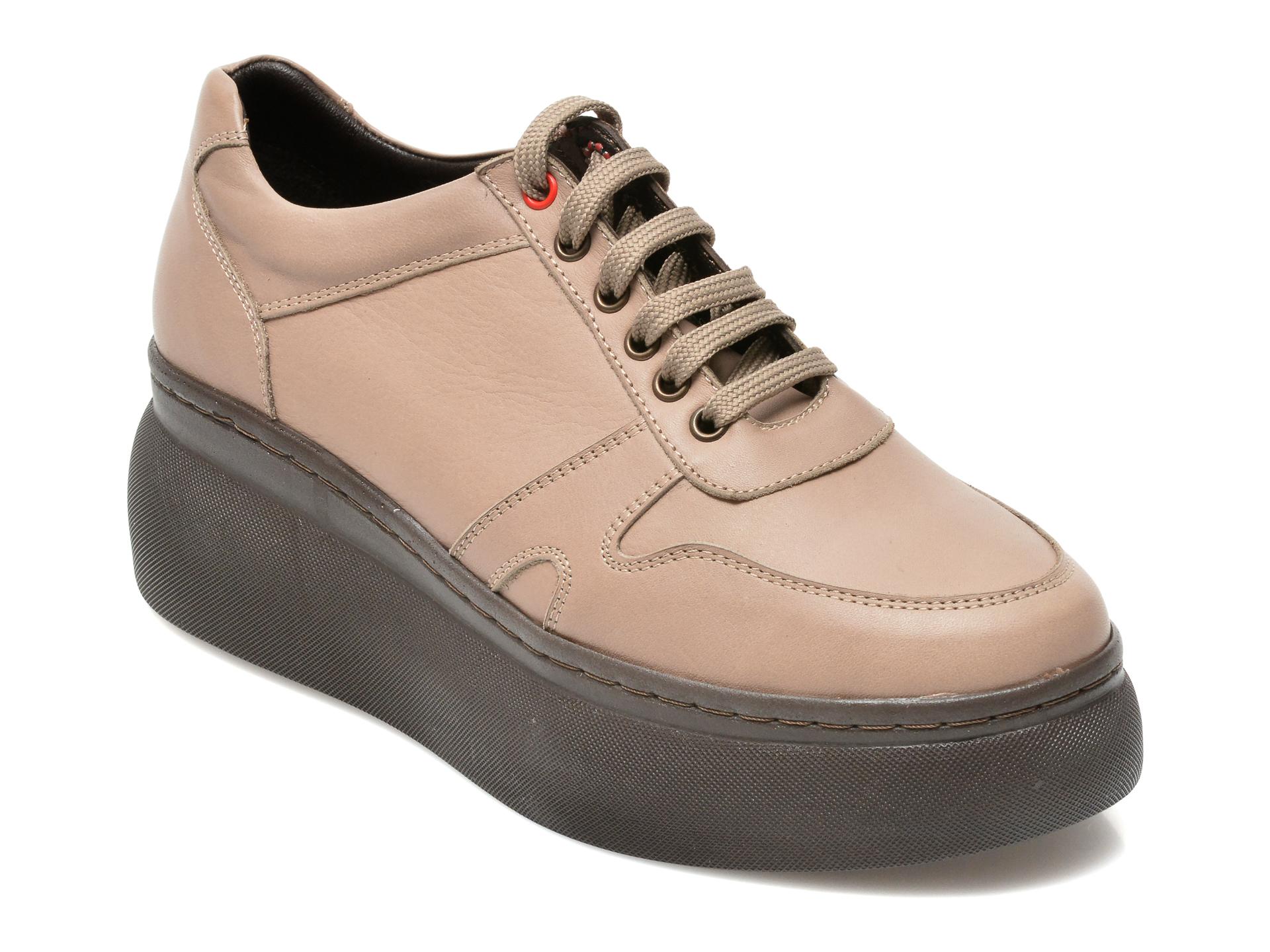 Pantofi Flavia Passini Gri, 21915, Din Piele Naturala