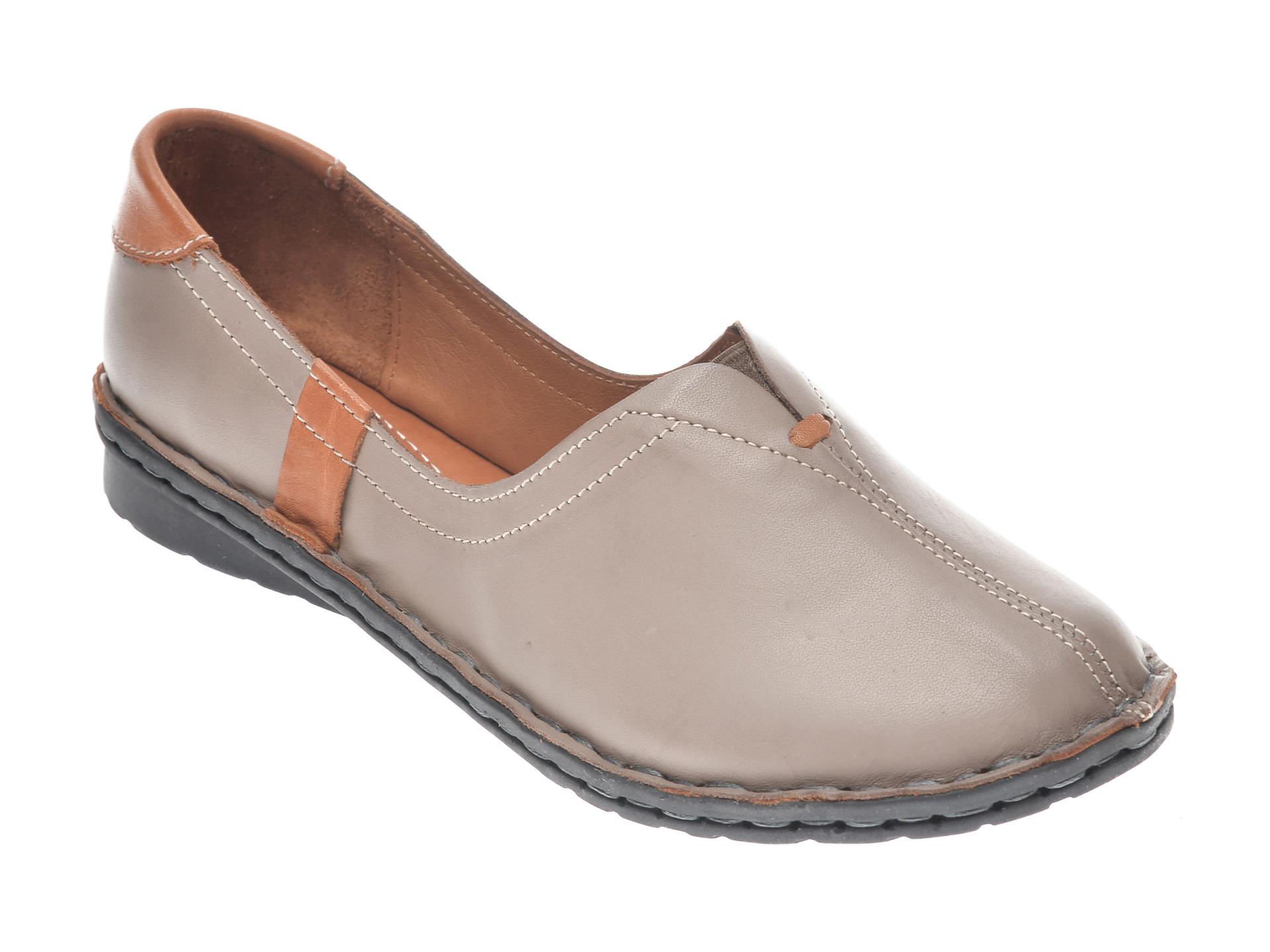 Pantofi Flavia Passini Gri, 952405, Din Piele Naturala