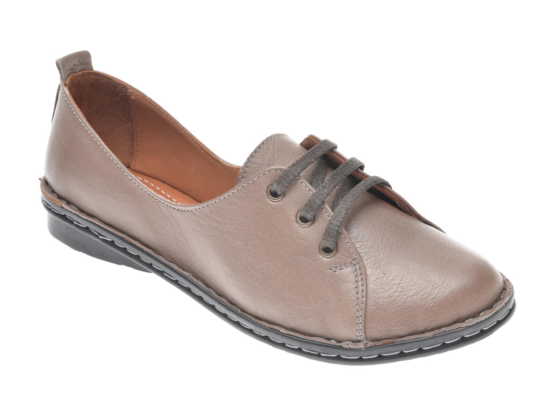 Pantofi Flavia Passini Gri, 952422, Din Piele Naturala