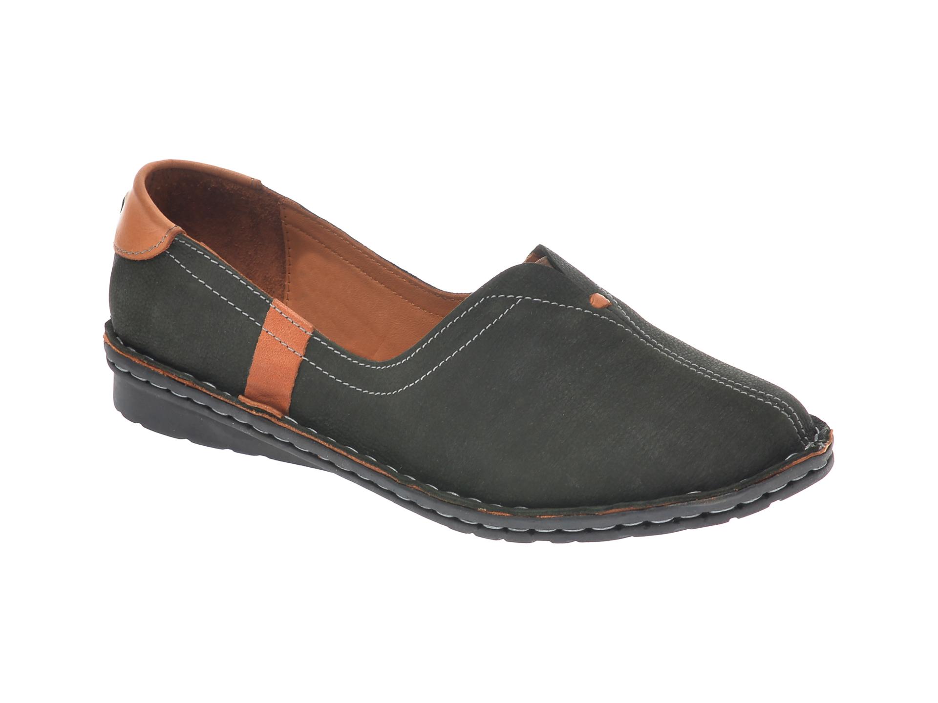 Pantofi Flavia Passini Kaki, 952405, Din Nabuc