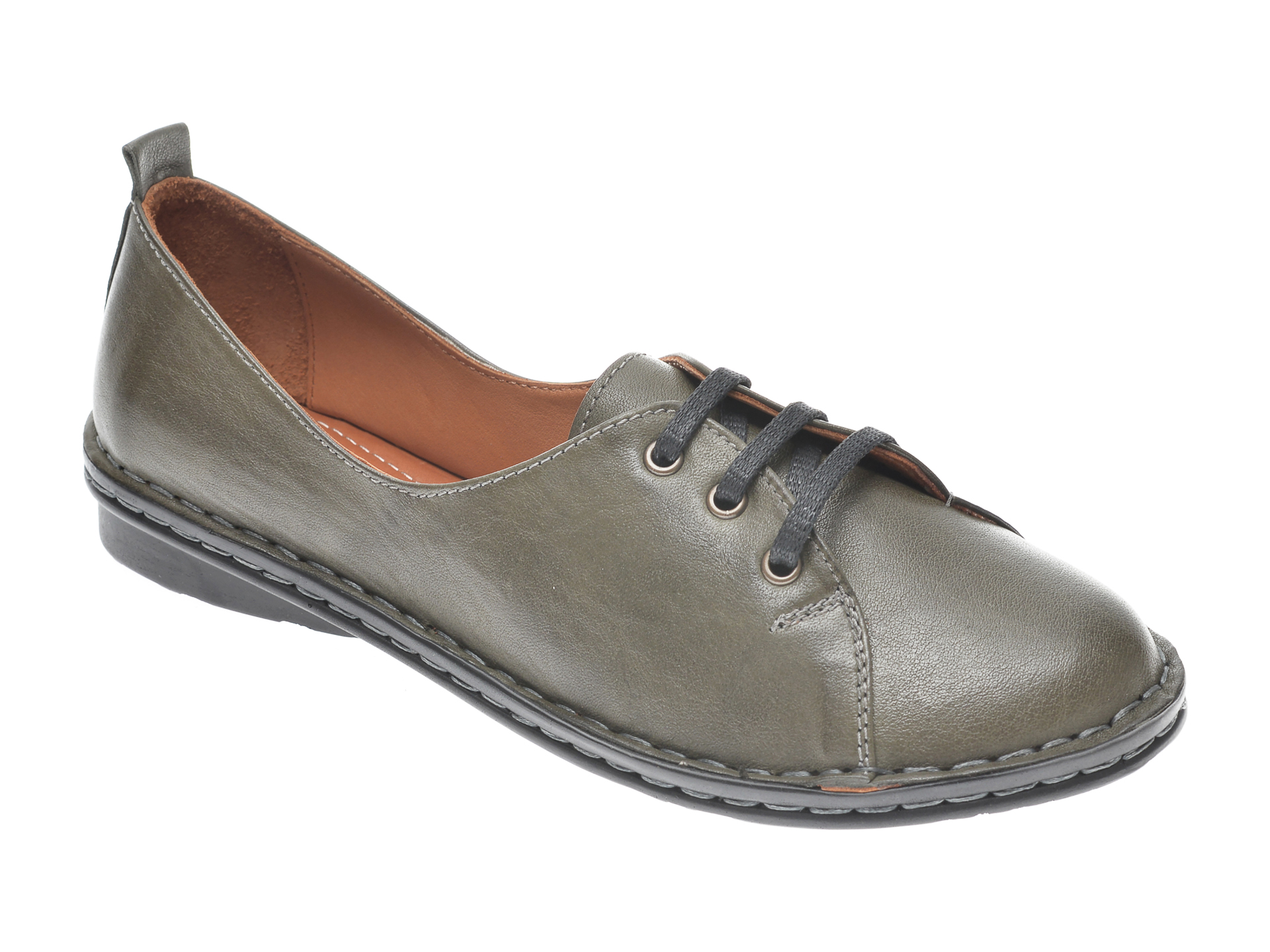 Pantofi Flavia Passini Kaki, 952422, Din Piele Naturala