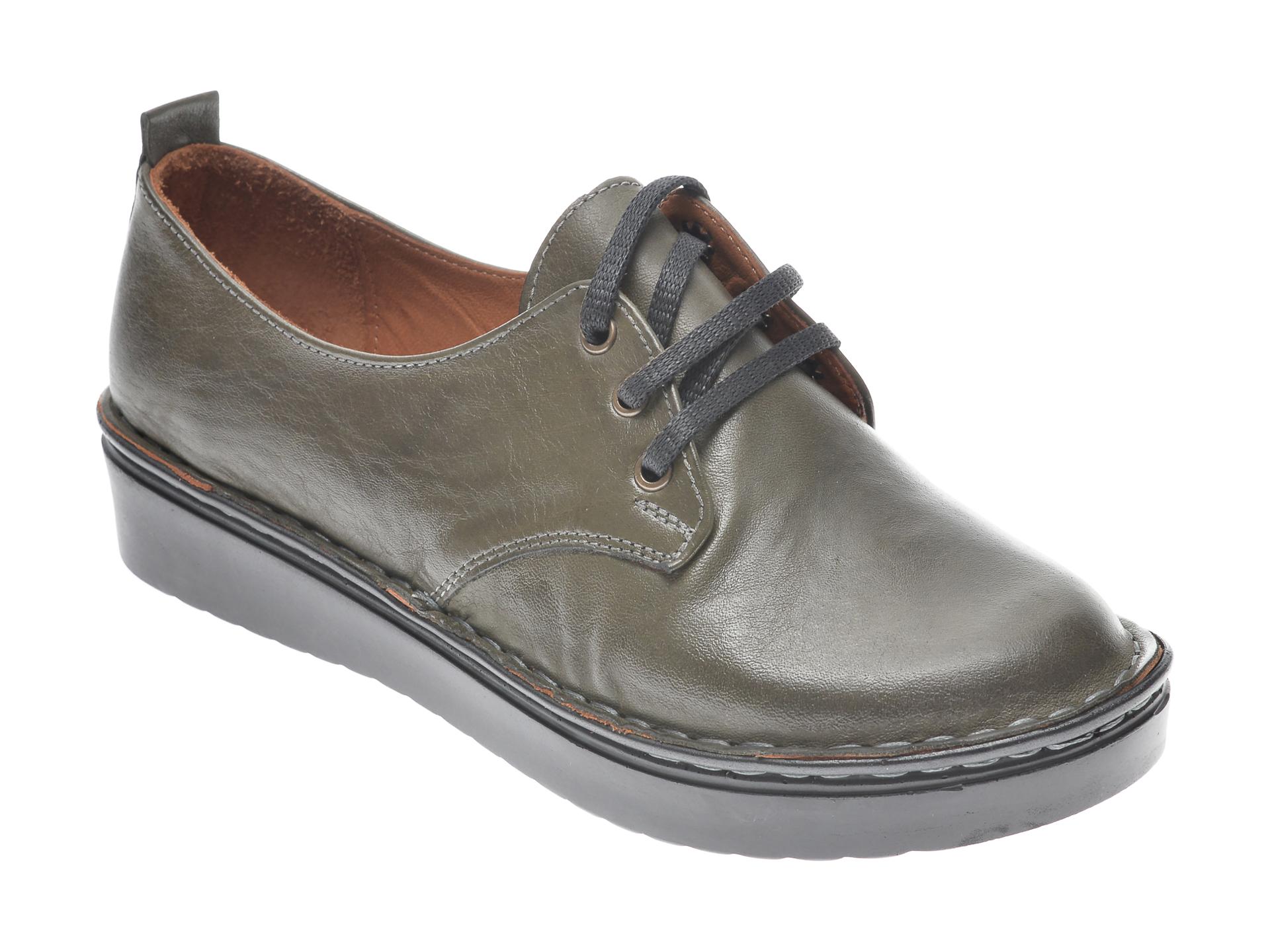 Pantofi Flavia Passini Kaki, 953520, Din Piele Naturala