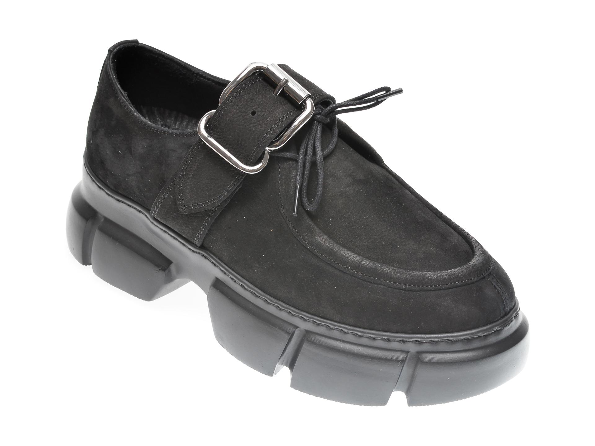 Pantofi Flavia Passini Negri, 1185342, Din Nabuc