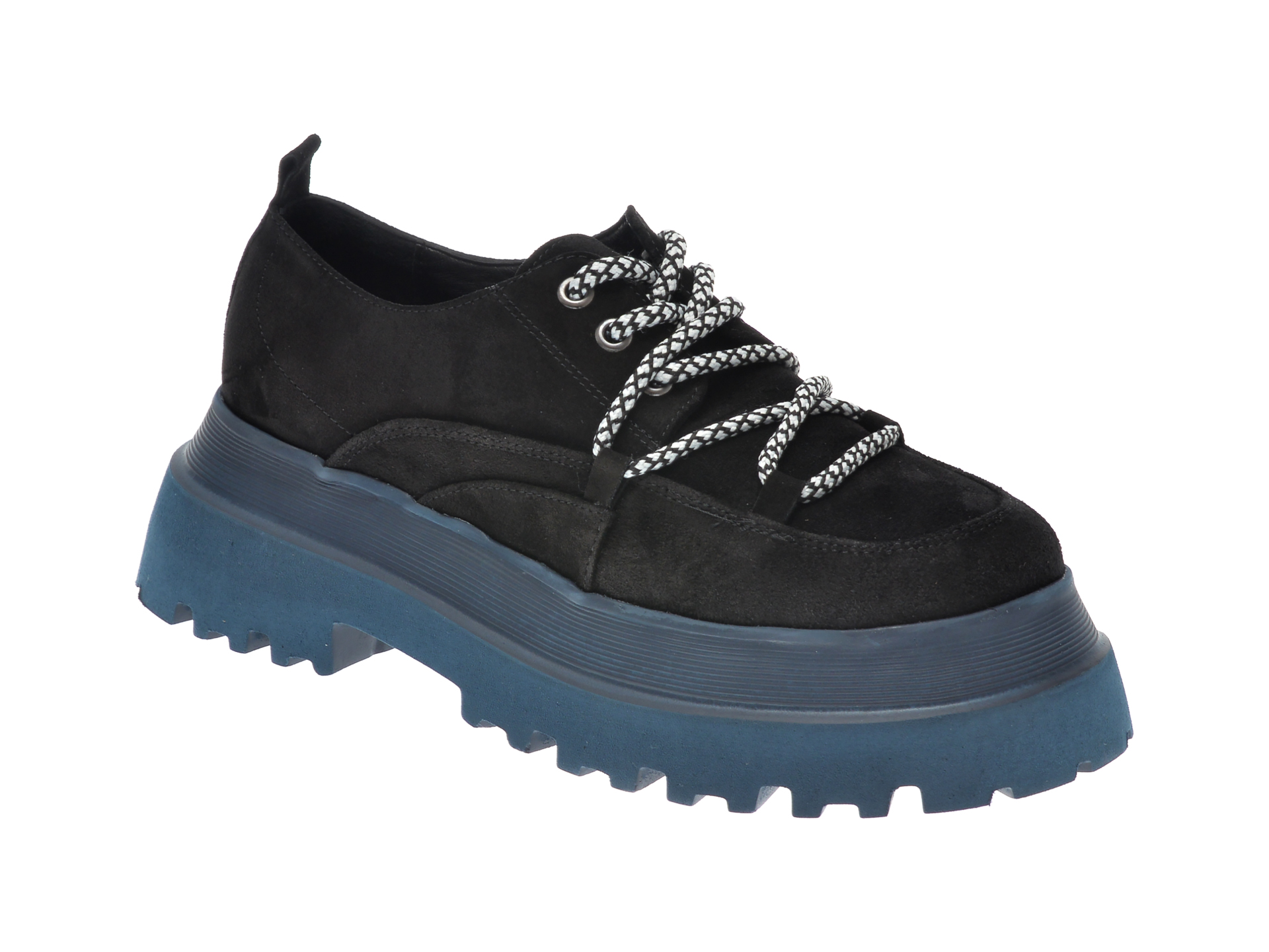 Pantofi Flavia Passini Negri, 11903, Din Piele Intoarsa