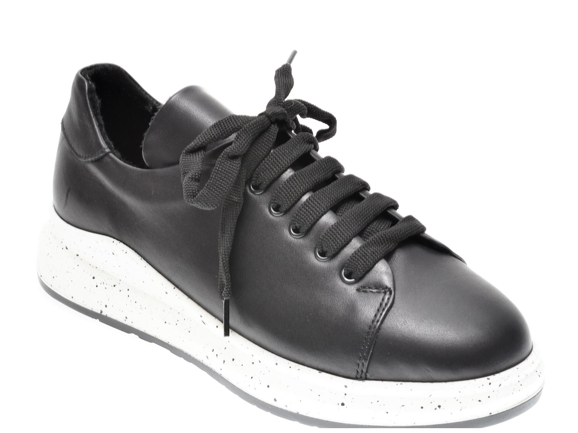 Pantofi Flavia Passini Negri, 21612, Din Piele Naturala