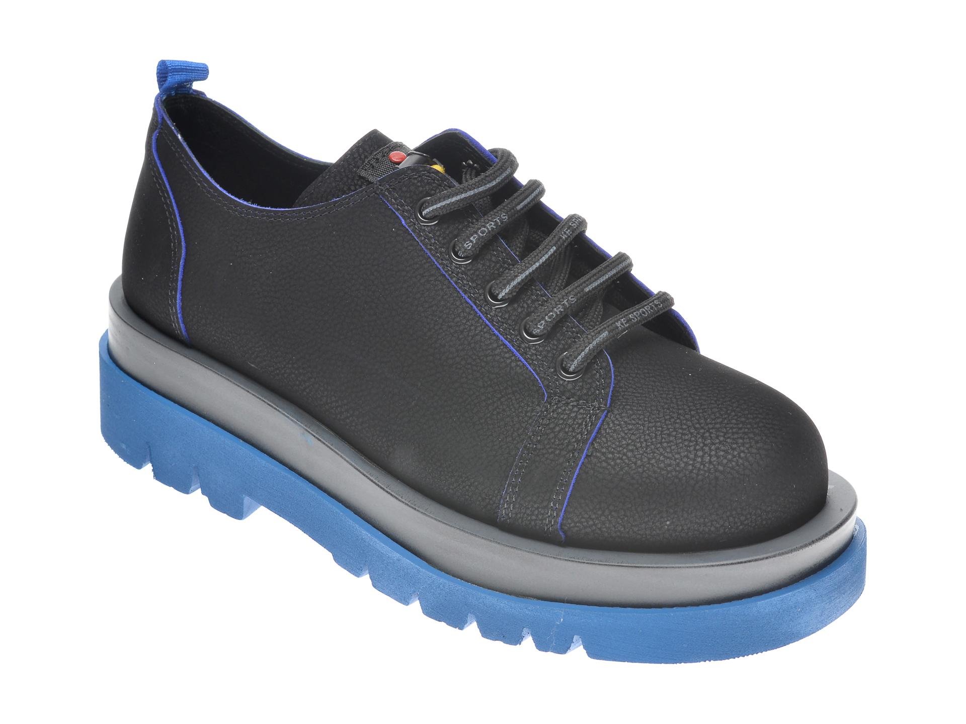 Pantofi Flavia Passini Negri, 542066, Din Nabuc
