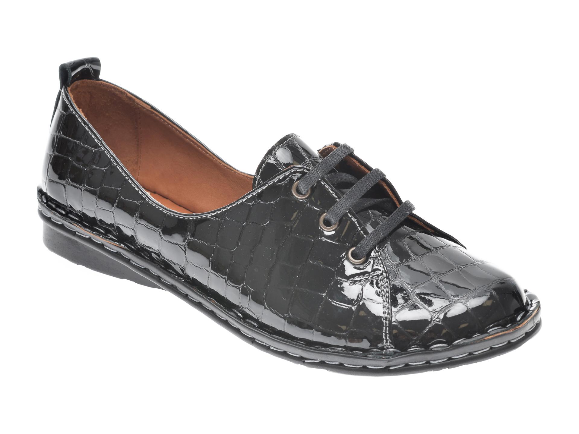Pantofi Flavia Passini Negri, 952422, Din Piele Naturala