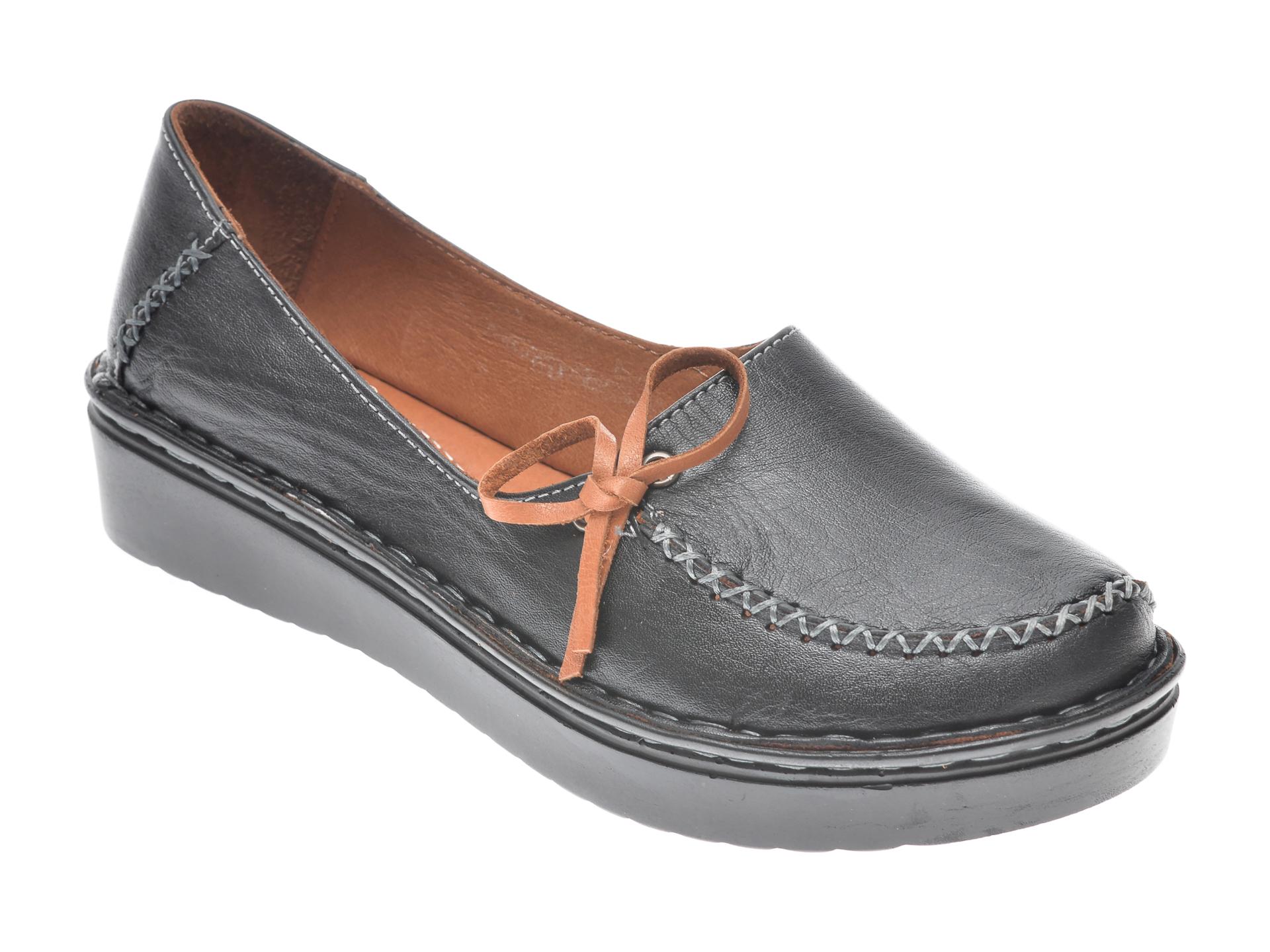 Pantofi Flavia Passini Negri, 953403, Din Piele Naturala