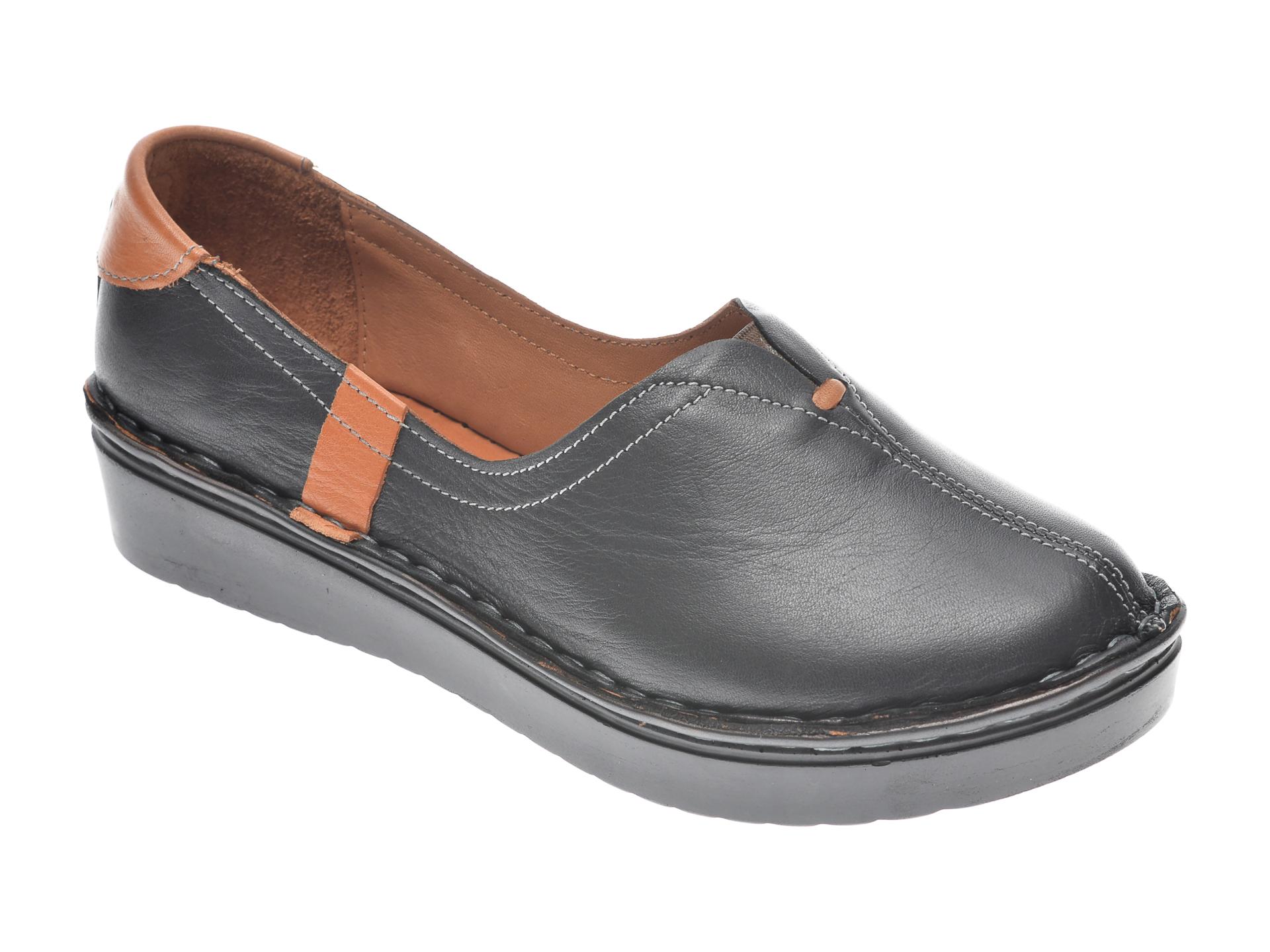 Pantofi Flavia Passini Negri, 953405, Din Piele Naturala