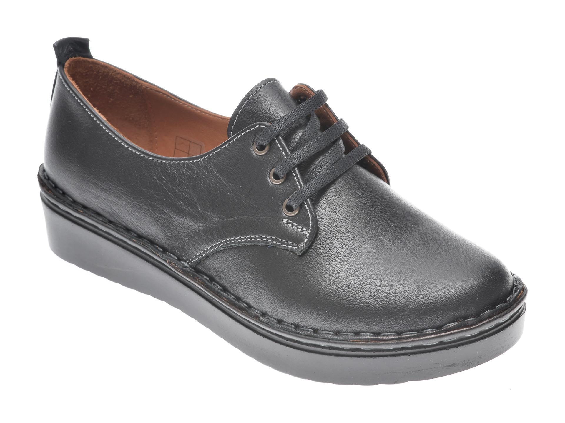 Pantofi Flavia Passini Negri, 953520, Din Piele Naturala