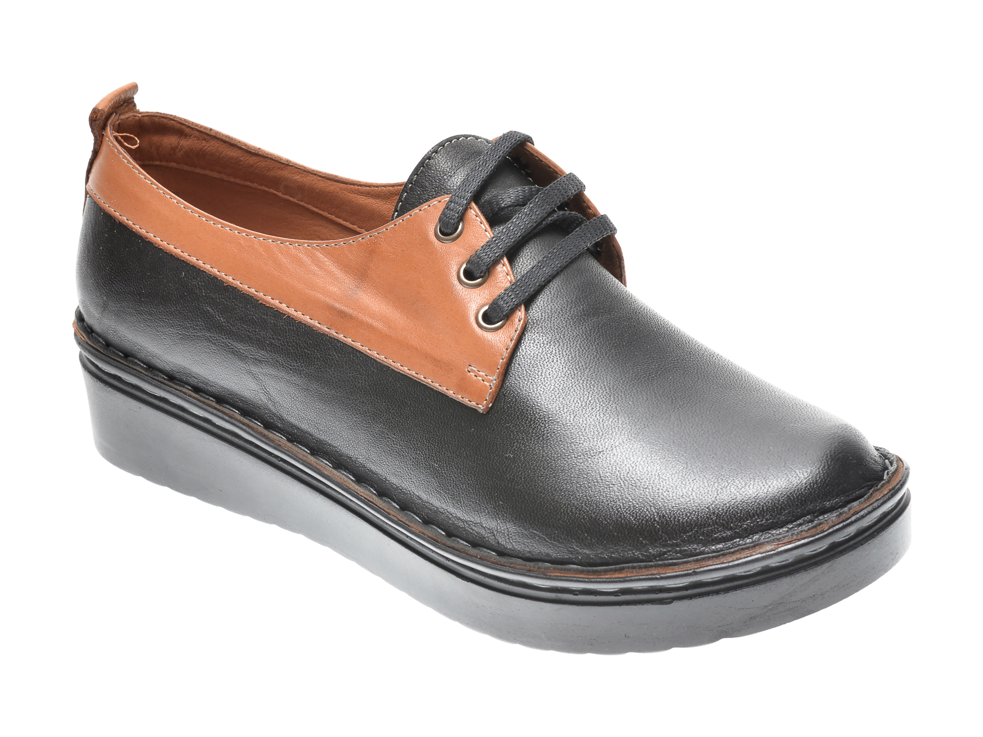 Pantofi Flavia Passini Negri, 953555, Din Piele Naturala
