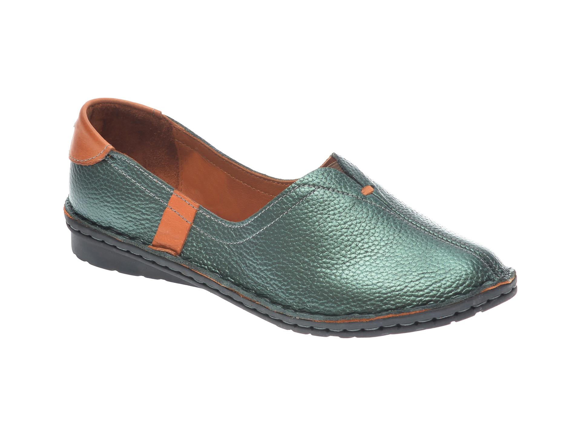 Pantofi Flavia Passini Verzi, 952405, Din Piele Naturala