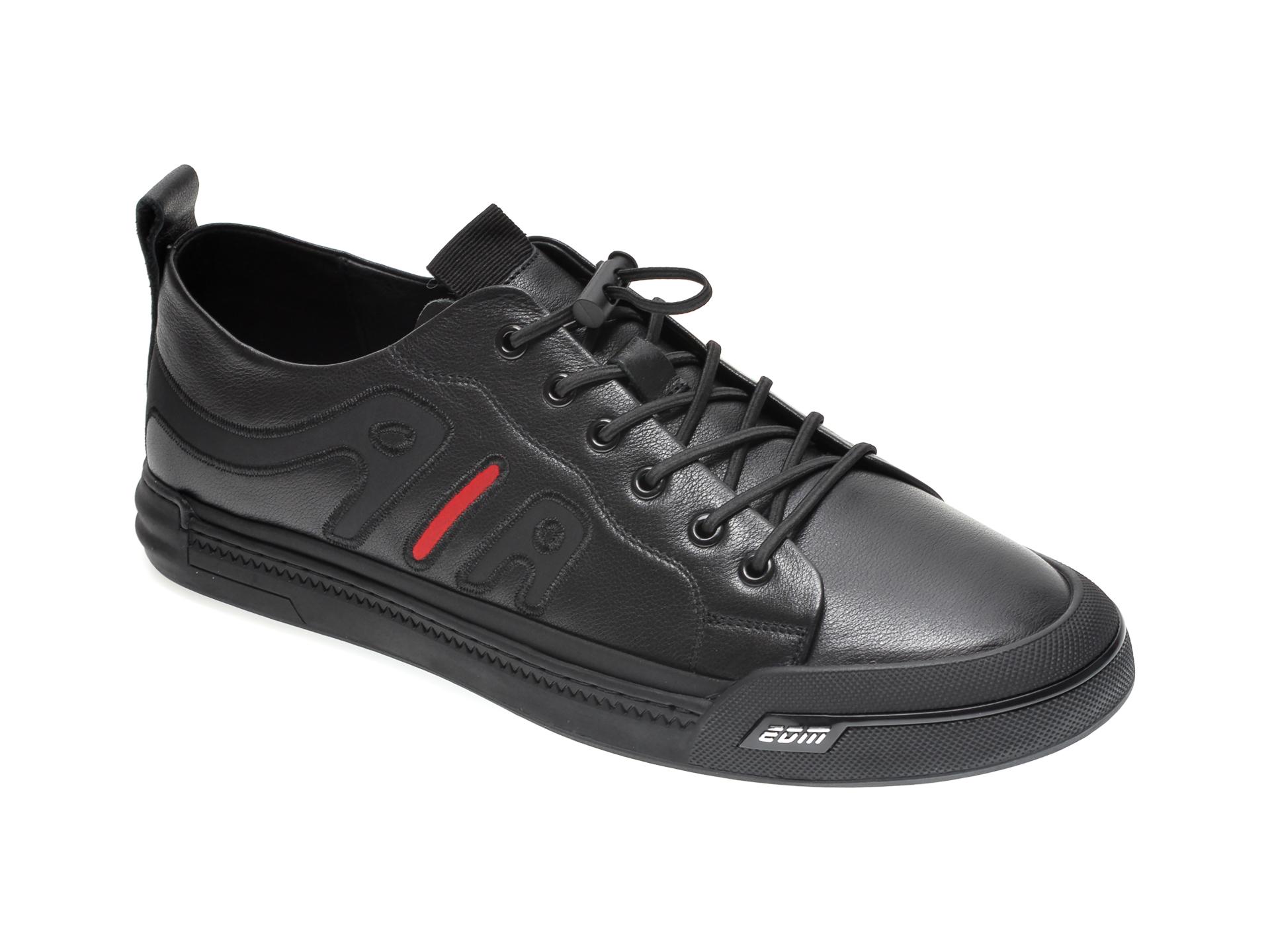 Pantofi Gryxx Negri, A02672, Din Piele Naturala