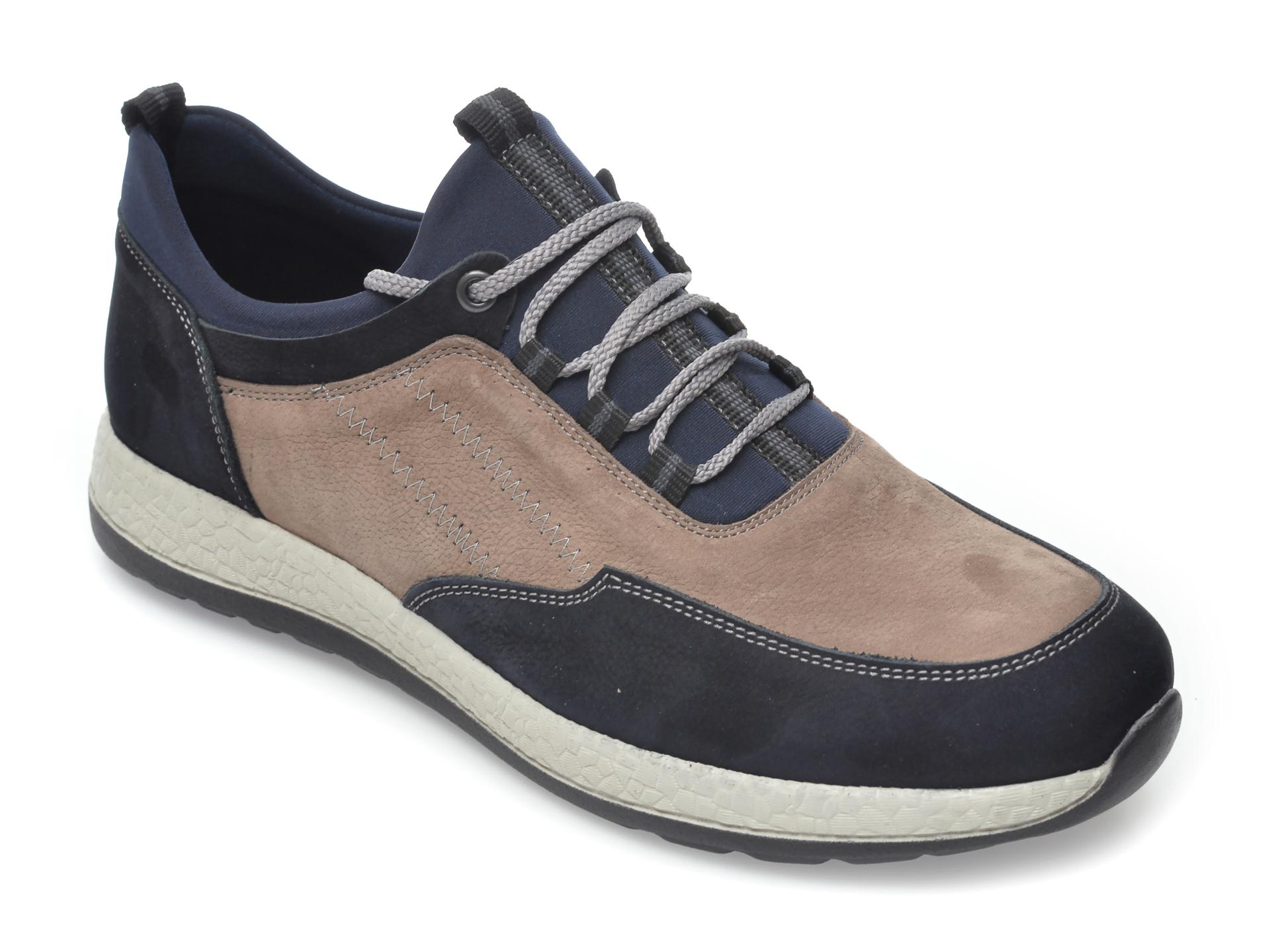 Pantofi Otter Bleumarin, 22172, Din Nabuc