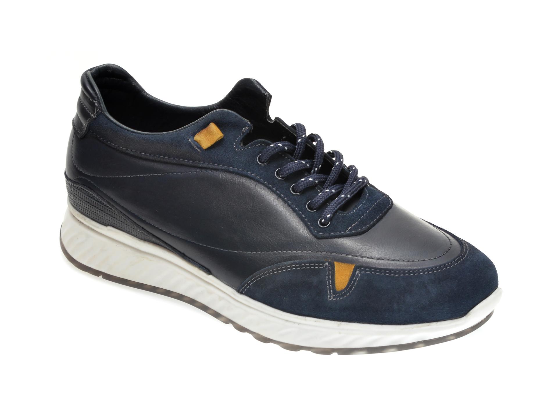 Pantofi Otter Bleumarin, M5781, Din Piele Naturala