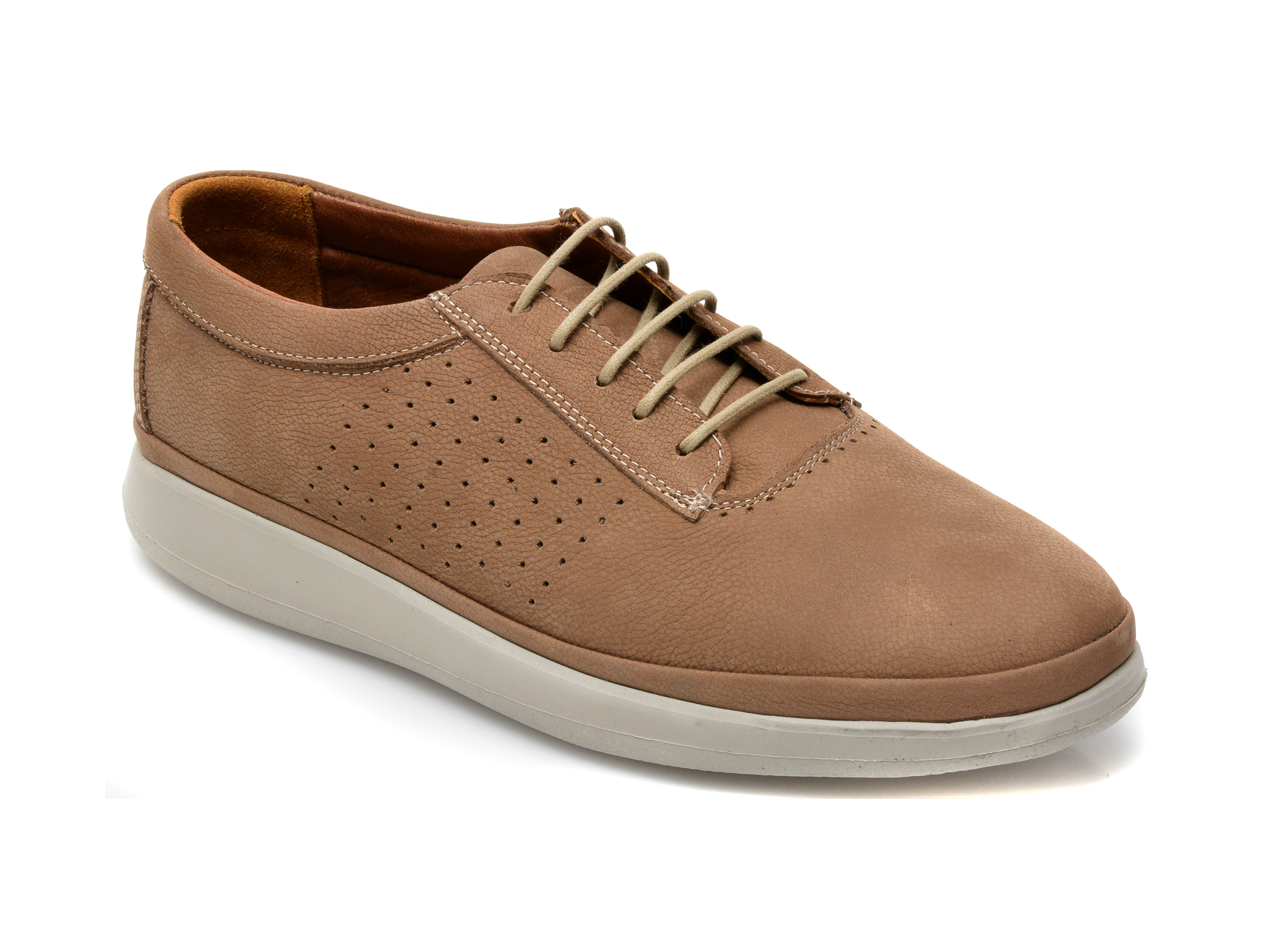 Pantofi Otter Maro, M6001, Din Nabuc