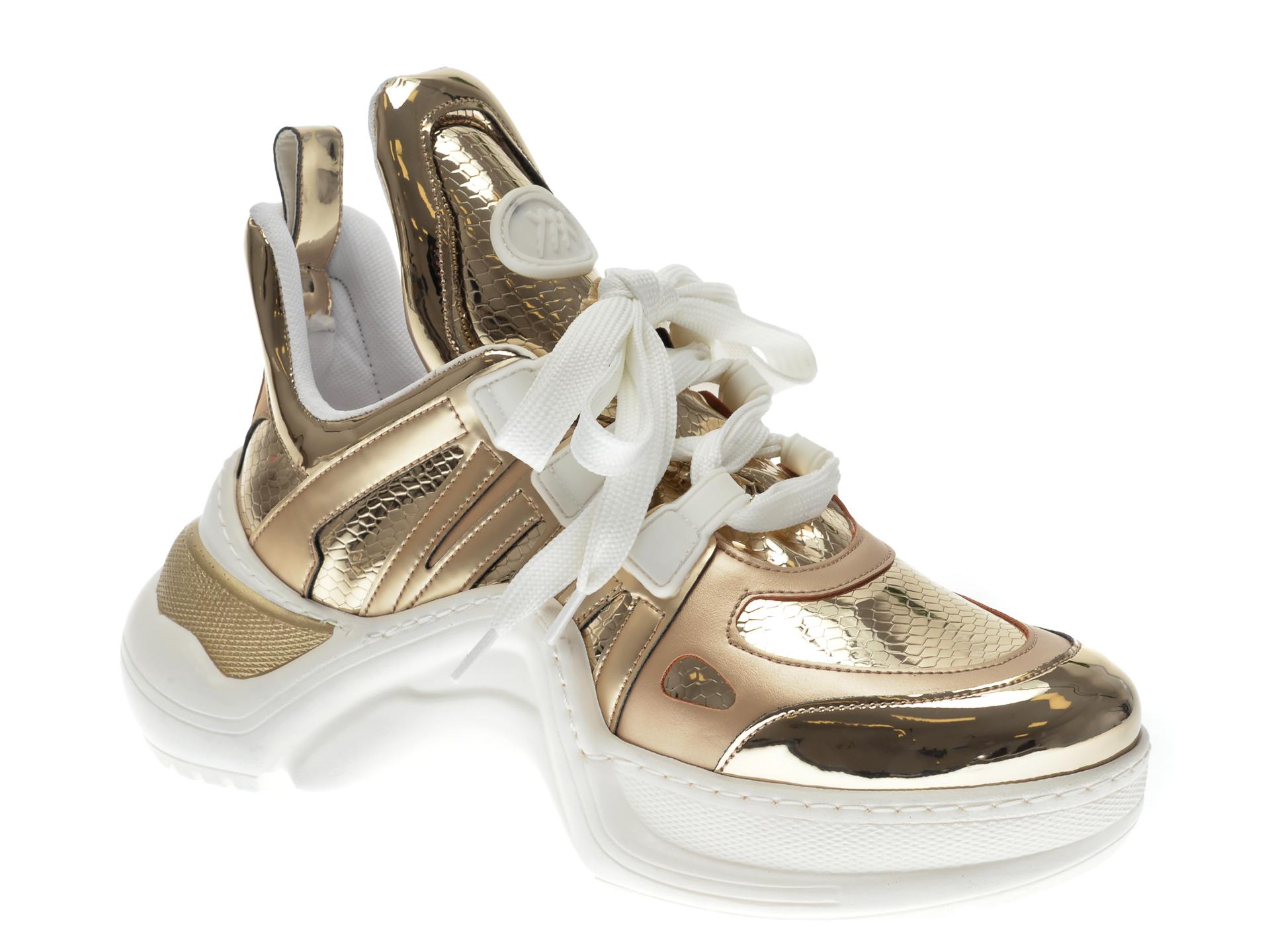 Pantofi Sport Gryxx Aurii, Mk1043, Din Piele Ecologica