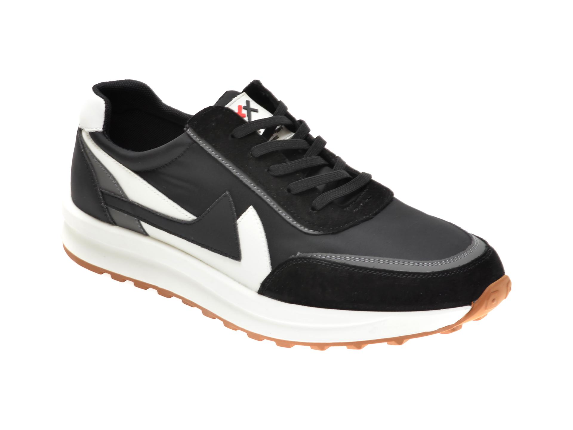 Pantofi Sport Gryxx Negri, 99863, Din Material Textil Si Piele Intoarsa