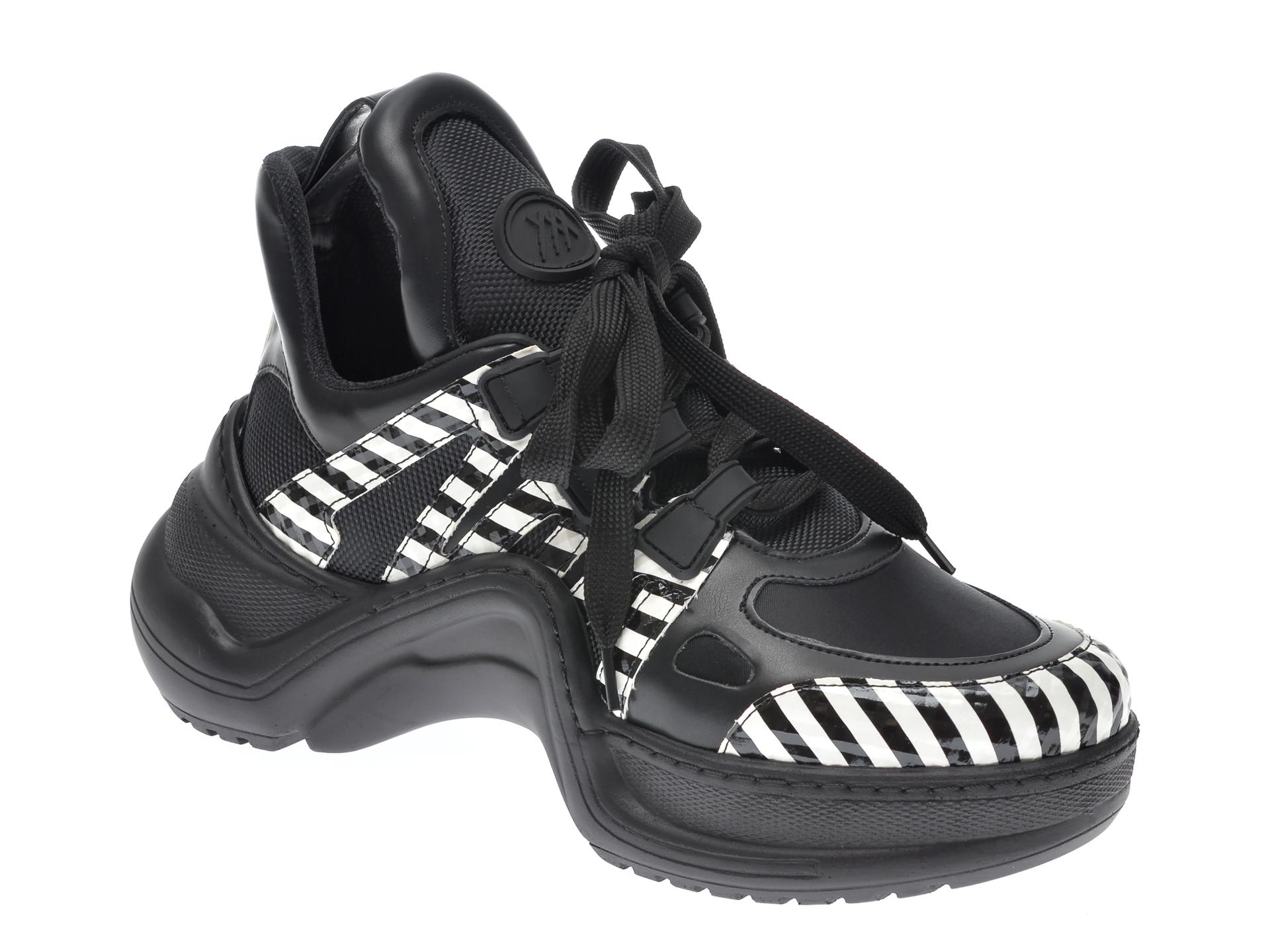 Pantofi Sport Gryxx Negri, Mk1043, Din Piele Ecologica