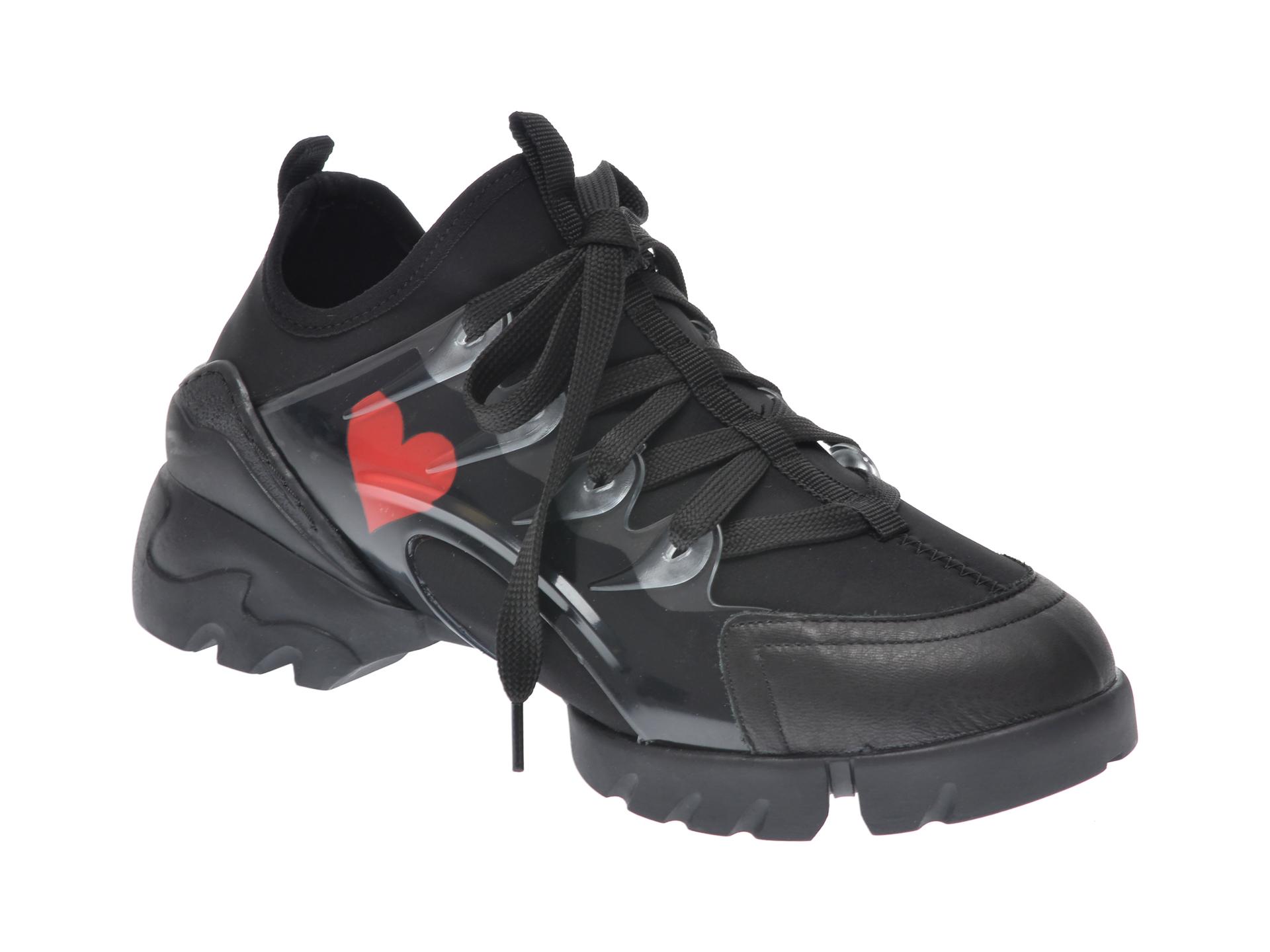 Pantofi Sport Gryxx Negri, Mk8862, Din Piele Ecologica