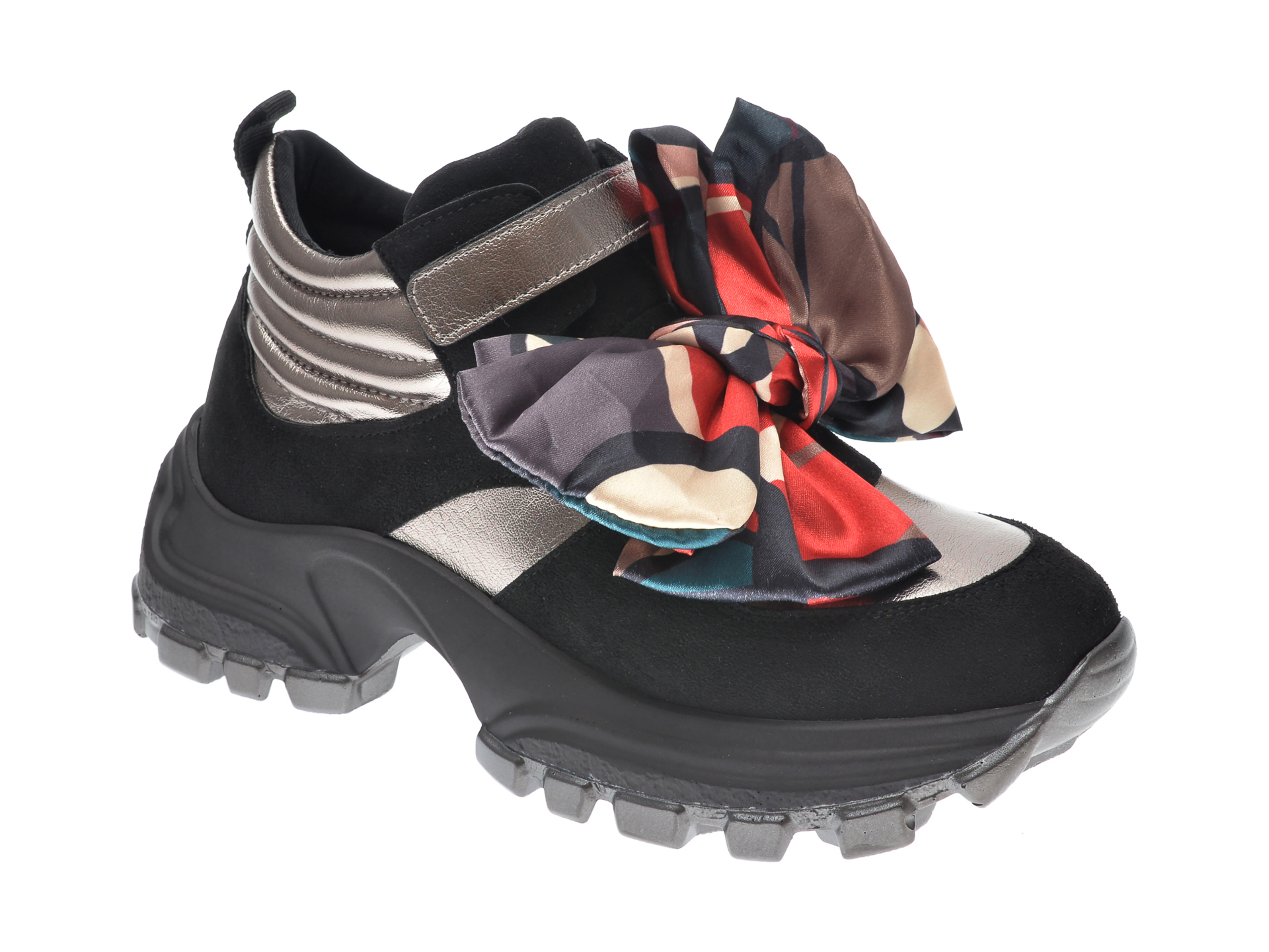 Pantofi Sport Gryxx Negri, Mo12454, Din Material Textil Si Piele Ecologica