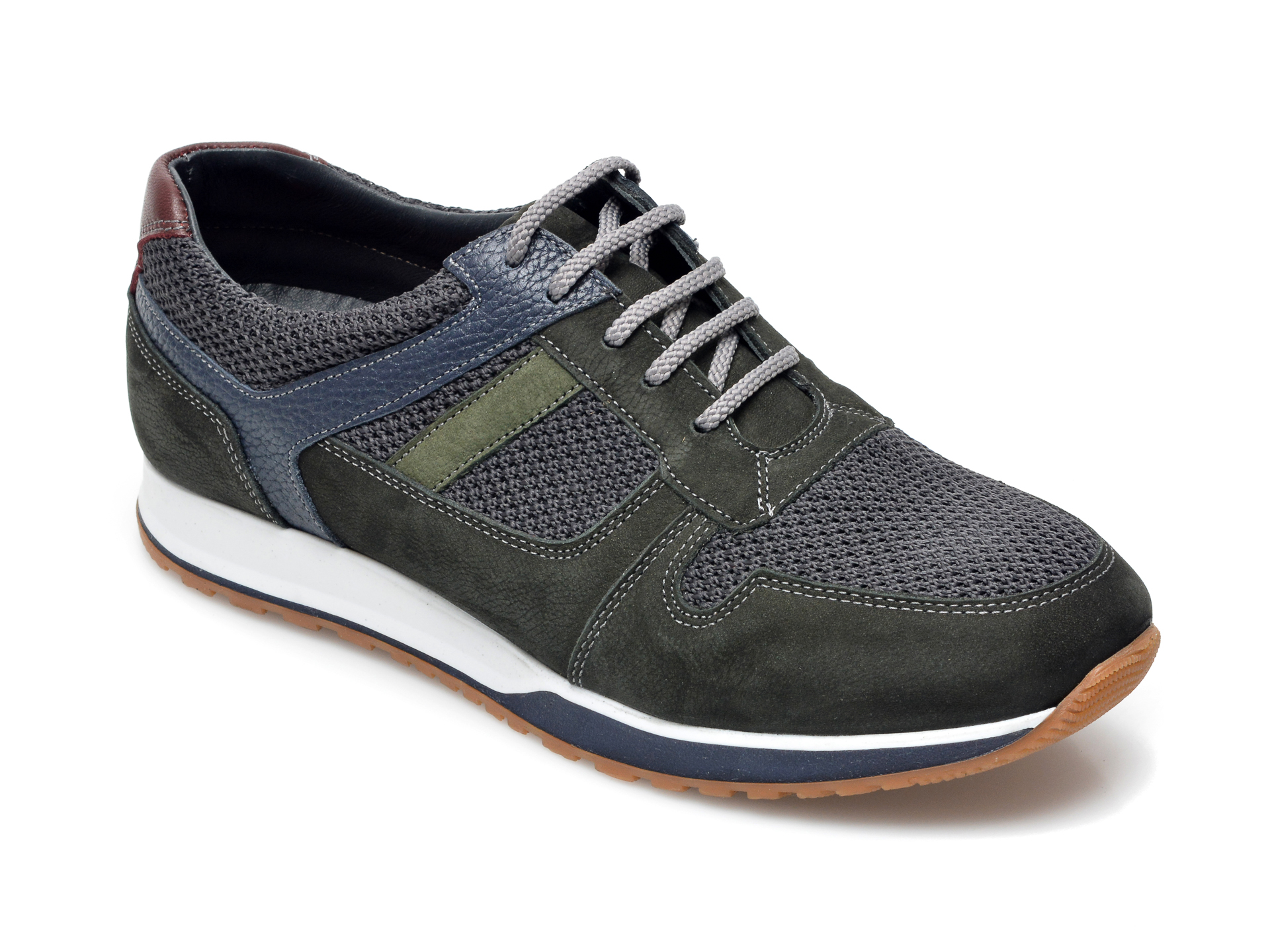 Pantofi Sport Otter Verzi, 81101, Din Material Textil Si Piele Intoarsa