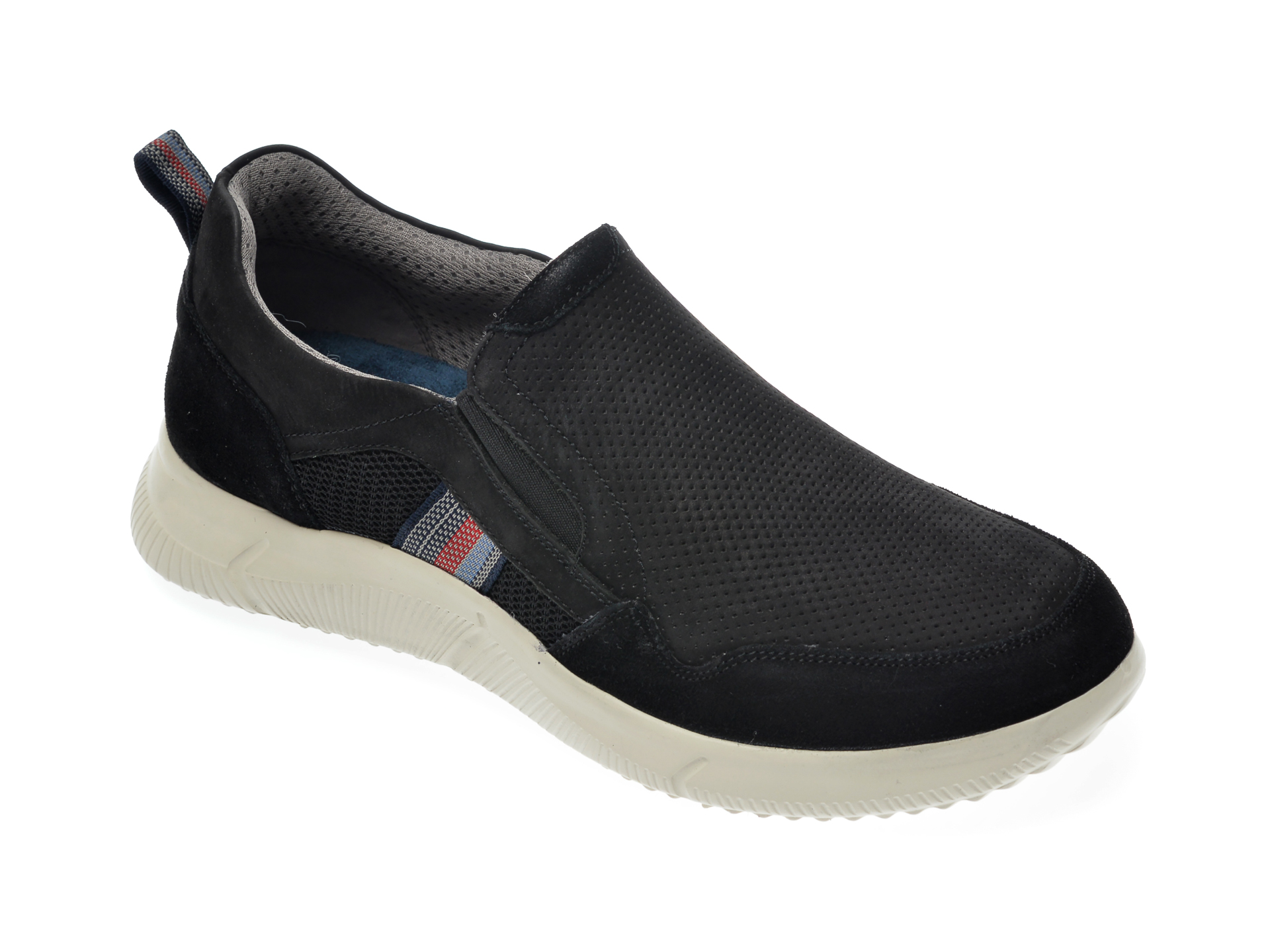 Pantofi Sport Salamander Negri, 61004, Din Nabuc