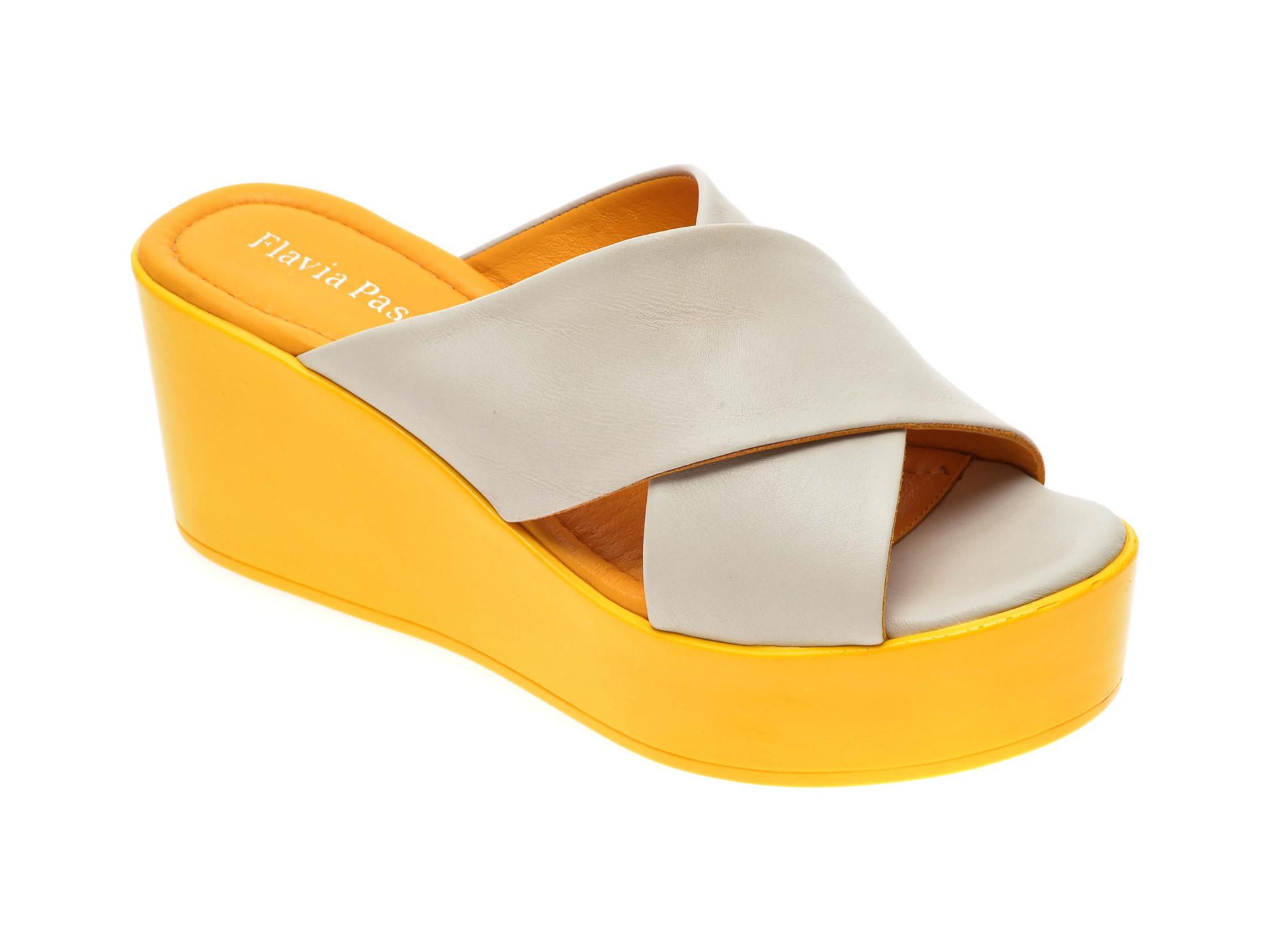Papuci FLAVIA PASSINI gri, 6292145, din piele naturala