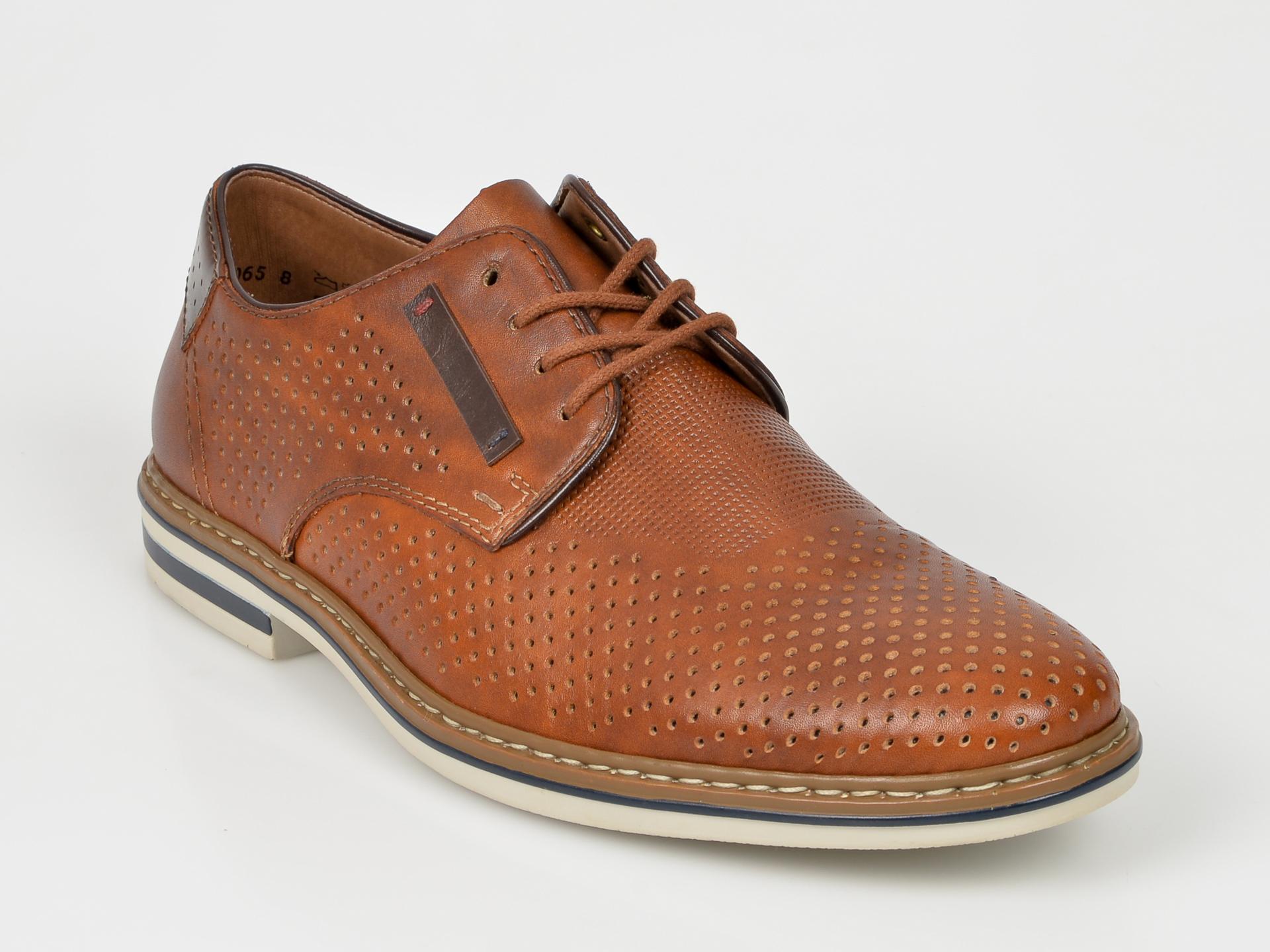 Pantofi Rieker Maro, B14c5, Din Piele Naturala