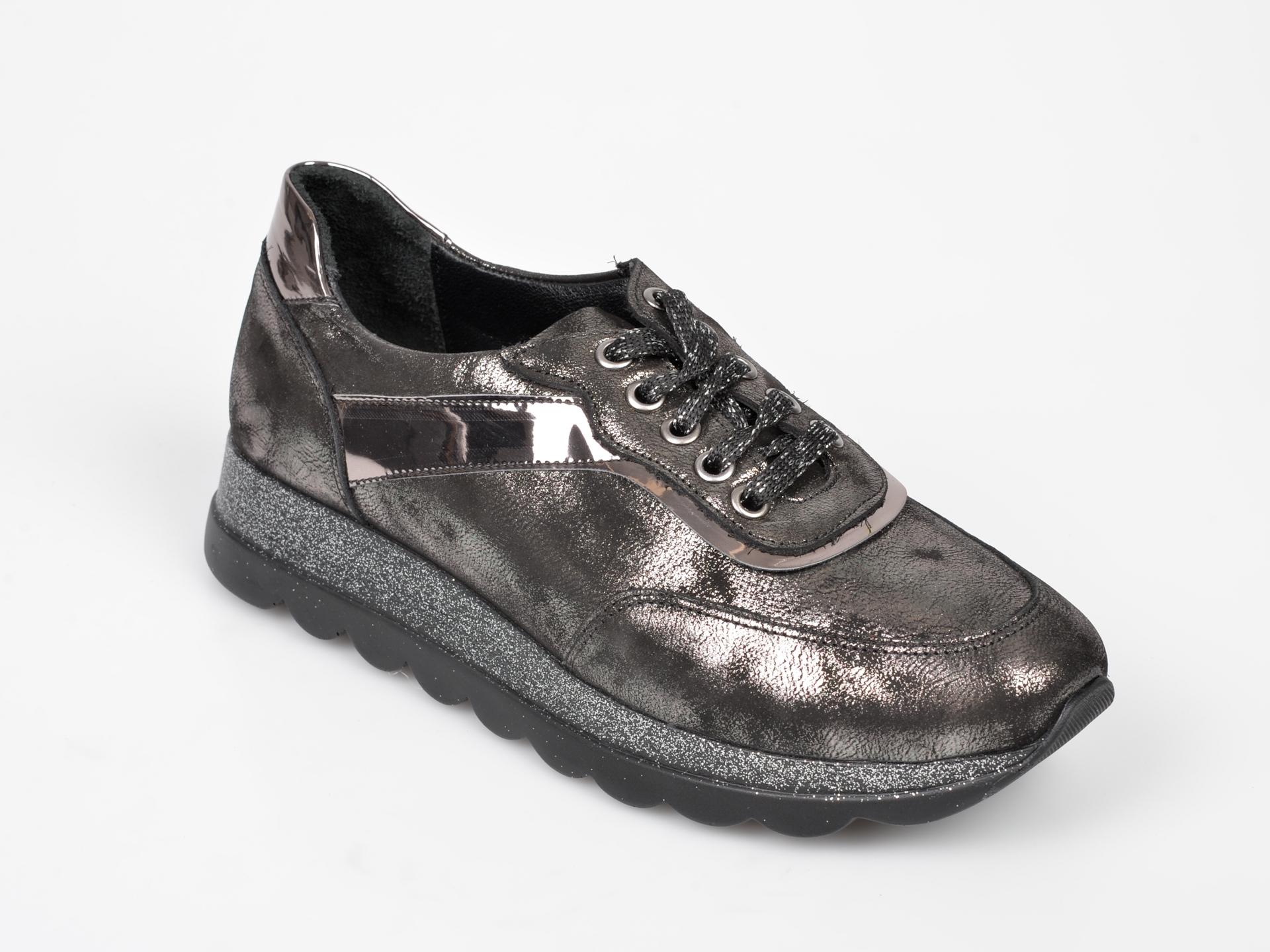 Pantofi Sport Flavia Passini Gri, Rs30, Din Piele Naturala